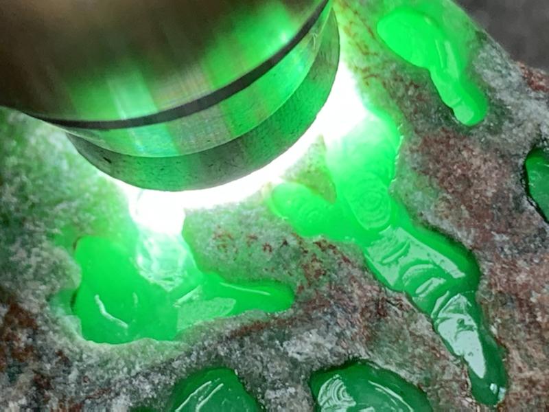 极力推荐 矿区新货 会卡开窗色料 小精品 全身红蜡覆盖 皮克沙质细腻均匀 开窗位肉质光感十足