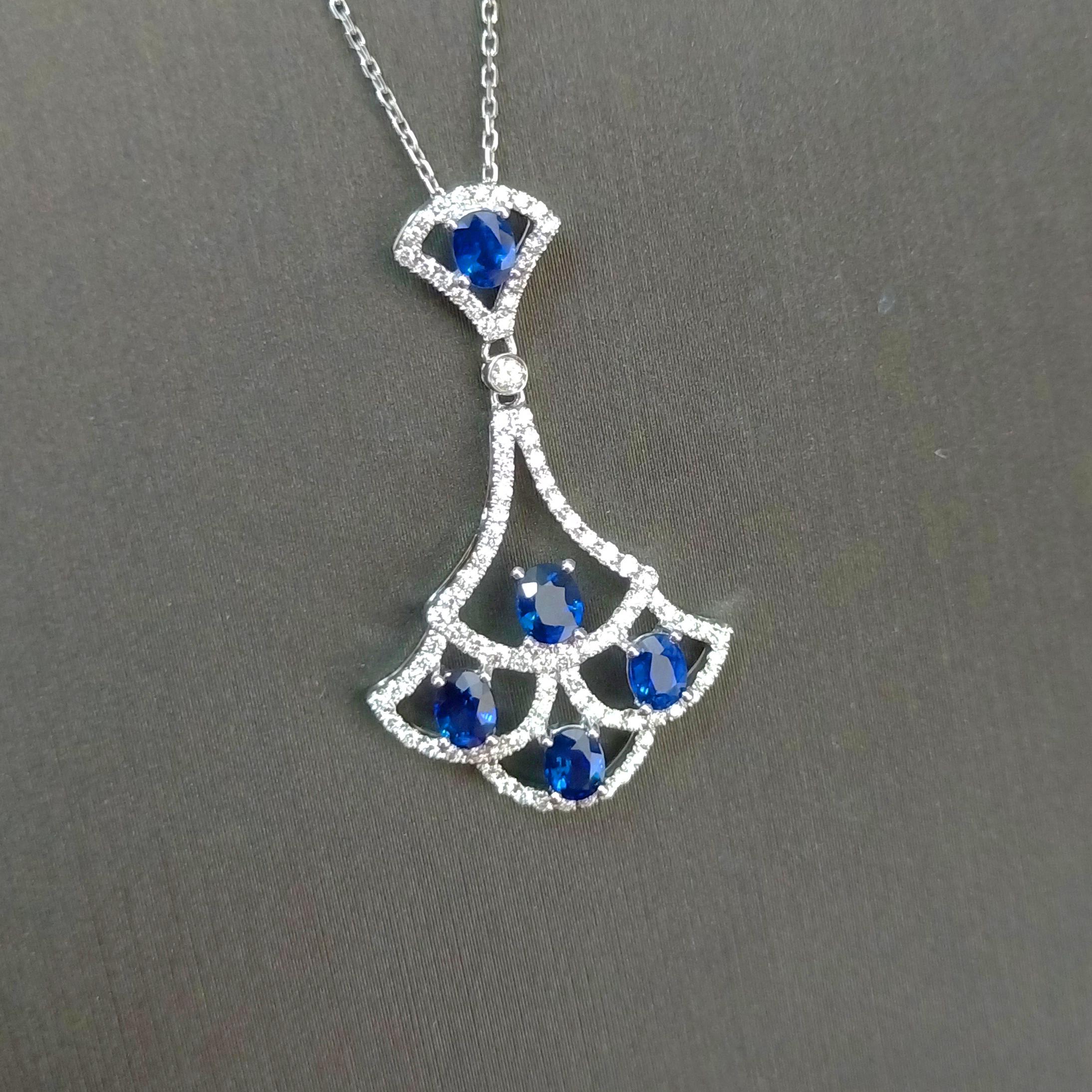 【吊坠】18K金+蓝宝石+钻石 宝石颜色纯正 主石:1.01ct/5P 货重:2.50g