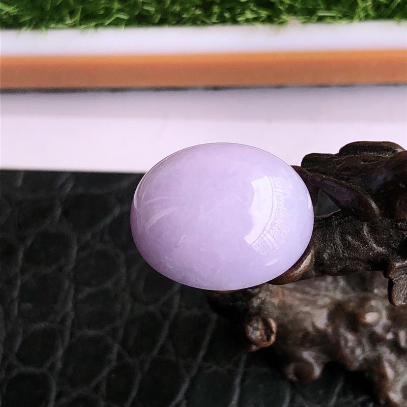 天然a货翡翠紫罗兰裸石蛋面(镶嵌件)戒面,玉质细腻,种水足,水润