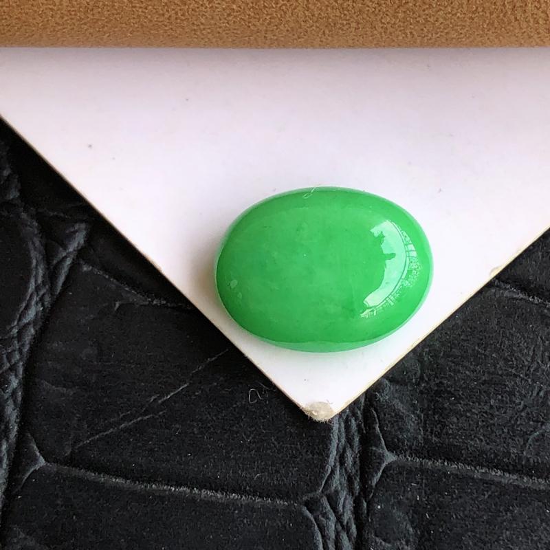 【天然a货翡翠满绿裸石蛋面(镶嵌件)戒面,玉质细腻,种水足】图7