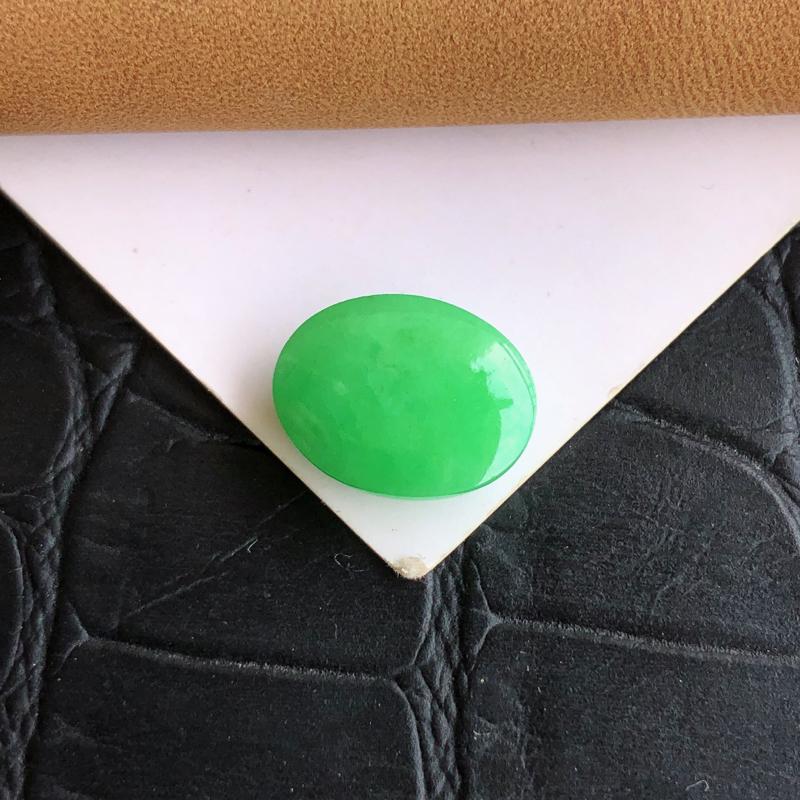 【天然a货翡翠满绿裸石蛋面(镶嵌件)戒面,玉质细腻,种水足】图10