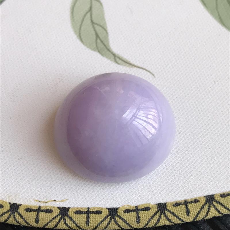 编号chen天然翡翠a货,尺寸26-23-17.5紫罗兰厚装大气戒面
