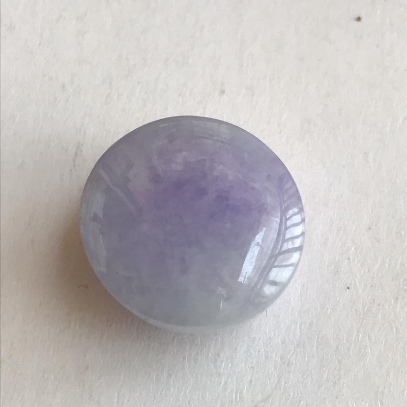 编号609天然翡翠a货,紫罗兰戒面17-10.5