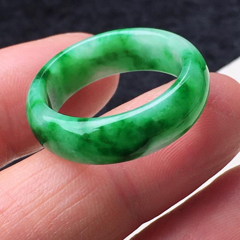 精雕19.3mm指环 种老水足 玉质细腻 指型好看!尺寸:19.3*6.9*3mm