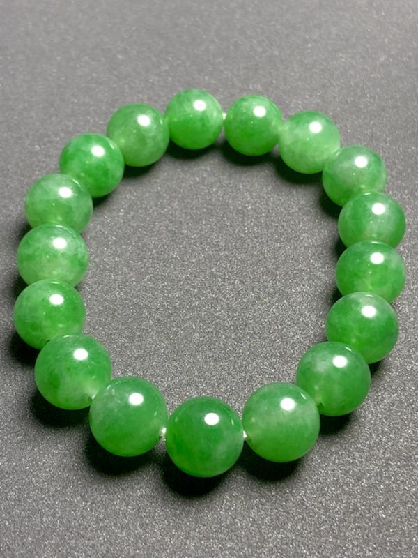 精品珠子手链, 直径11.3mm, 17粒, 41.3g, 有种有水头,料子不错