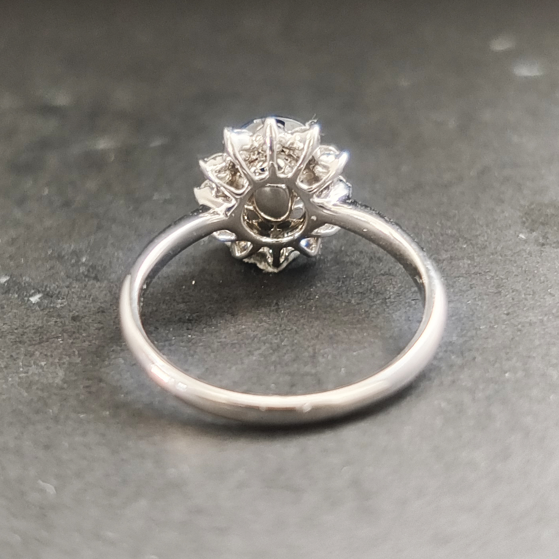 【【戒指】18K金+蓝宝石+钻石 宝石颜色纯正 主石:2.31ct/P 货重:3.55g 手寸:15寸】图6