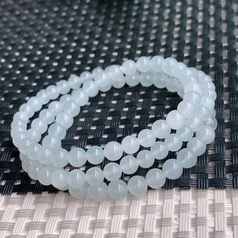 冰透项链、尺寸:98颗3.8/5.3mm、A货翡翠冰透塔珠项链、编号0305dz