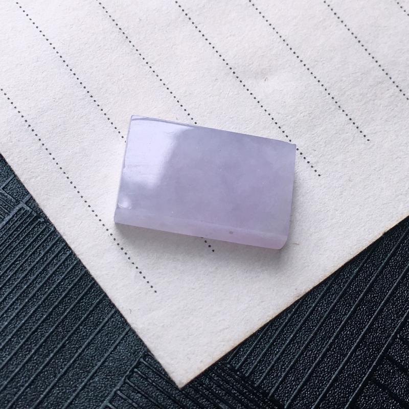 翡翠紫罗兰方形戒面镶件,种水好,玉质细腻温润,颜色漂亮,镶嵌后更好看。