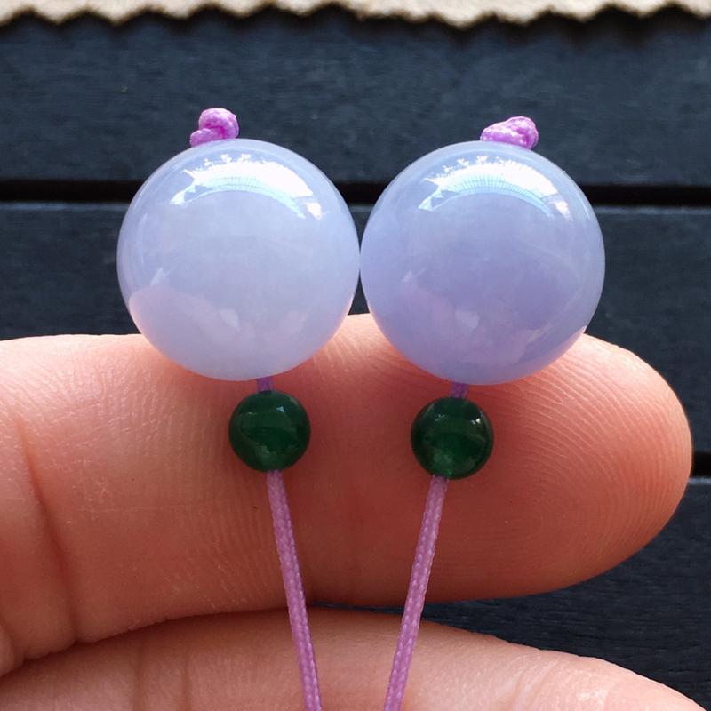 紫罗兰转运珠一堆,自然光实拍,缅甸a货翡翠,种水好,玉质细腻,颜色艳丽,水润饱满,佩戴佳品,顶珠是配