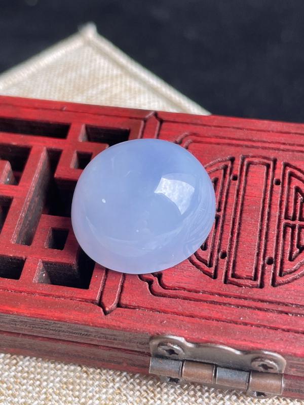 老坑紫罗兰蛋面戒面缅甸天然翡翠A货,尺寸18.5×17×11.4mm重量6.56g 花呗三期免息