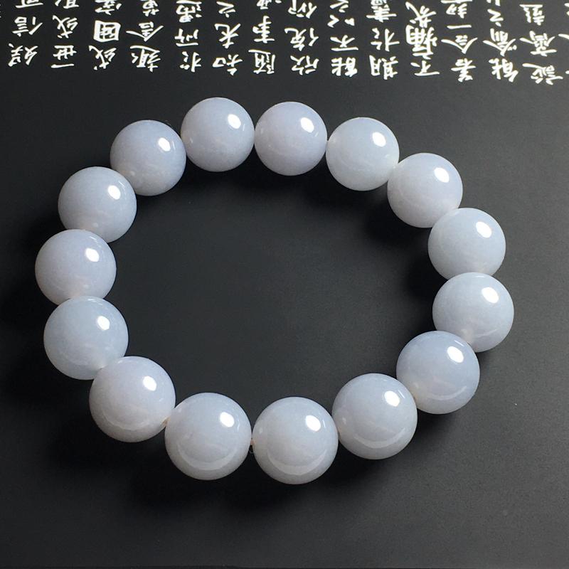春色佛珠手串 15颗 直径13毫米 玉质细腻 色泽亮丽