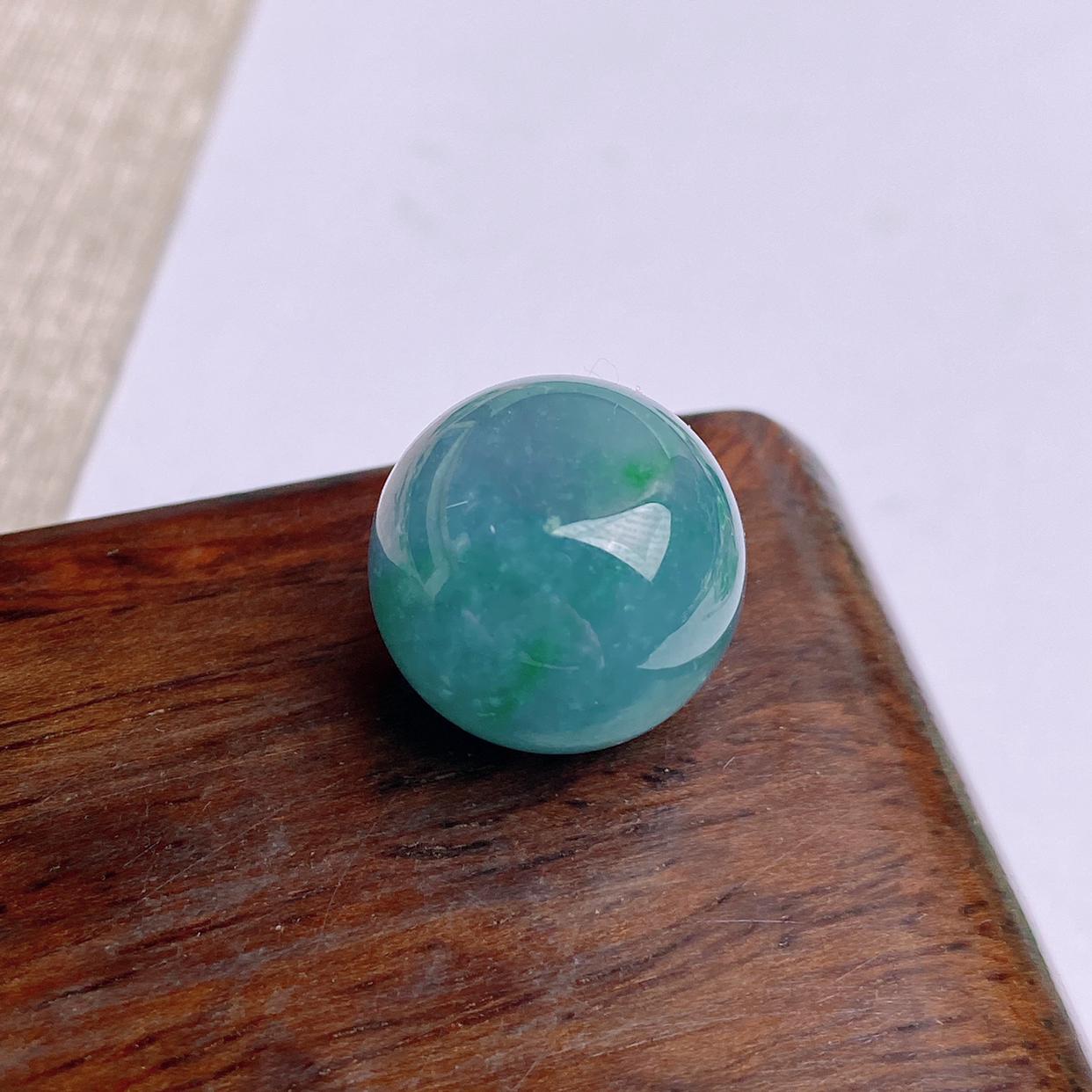 A货翡翠-种好紫罗兰圆珠镶嵌件,尺寸-15.6*14mm